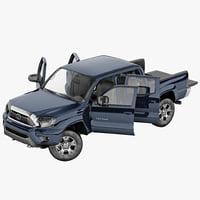 toyota tacoma 2012 rigged 3d model