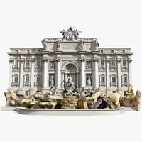 Trevi Fountain Facade