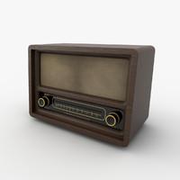 3d model of radio wood