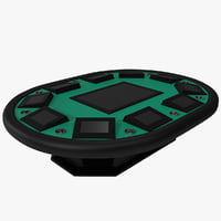 automated poker table 3d model