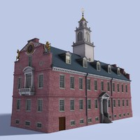 3d model old state house building