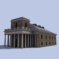 3d model king s chapel boston