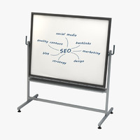 whiteboard seo 3d model