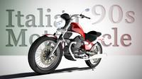 3d italian motorcycle model