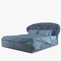 3ds max baxter positano bed