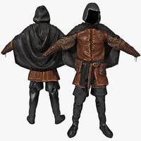 3d model medieval clothes