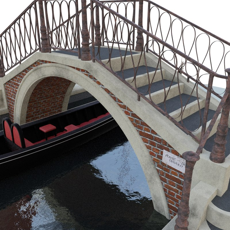 obj gondola bridge