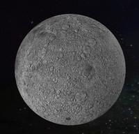 obj photorealistic moon