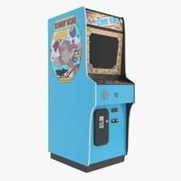 3d model donkey kong arcade machine