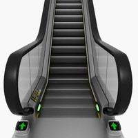 3d model escalator