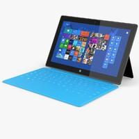 tablet laptop 3d model