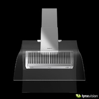 stainless steel island range hood 3d model