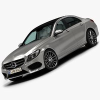 2015 mercedes-benz c-class 3d model