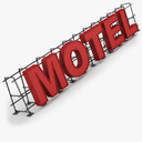 Motel Sign 3D models