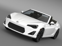 3d model toyota ft 86 open