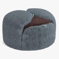 russian hat fur 3ds