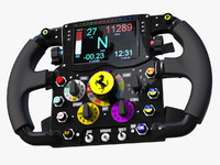 3d steering wheel ferrari f14t