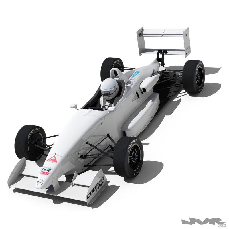3d usf-2000 formula race car model