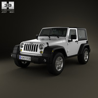 3d jeep wrangler rubicon model