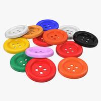 buttons design 3d obj