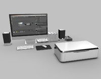 3d model computer workstation tech pack