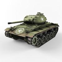 m24 chaffee 3d model
