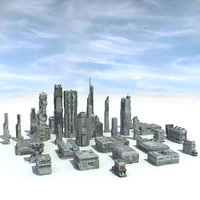 Sci-Fi City 31 HD Buildings