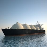 tanker ship lng 3d model
