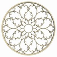 Elegant Gothic Rose Window