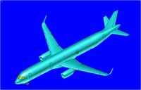 Airbus A321 (Sharklet) Aircraft Solid Assembly Model