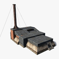 3d model of sci-fi foundry