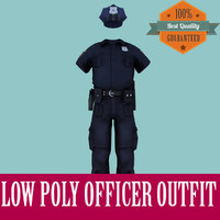 officer outfit games polys 3d max