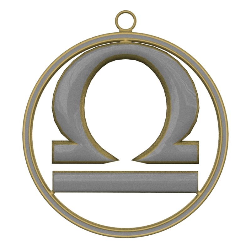 zodiac symbol libra 3d blend