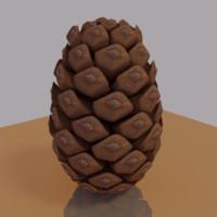 pine cone 3d blend