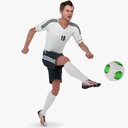 soccer player 3D models