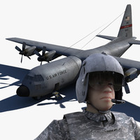 C130 and rigged pilot
