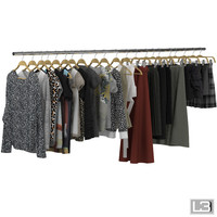 Clothes on Hangers 05