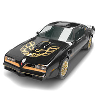 3d model pontiac trans firebird 1978