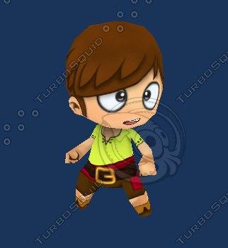 3dsmax cute chibi character