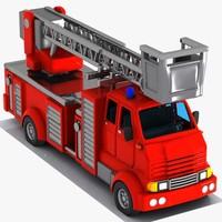 3d cartoon truck toon
