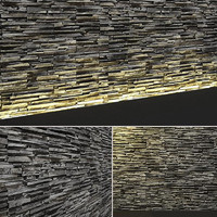 3d model of seamless stone wall tileable