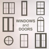 3d glass windows doors model