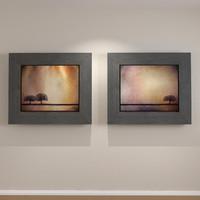modern art canvas inset 3d model