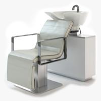 salon air chair 3d max