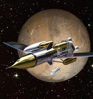3d 3ds spaceship rocket ship space stars