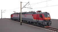 2es5 freight electric locomotive 3d max