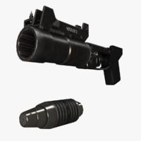 gp-30 obuvka grenade launcher 3d model