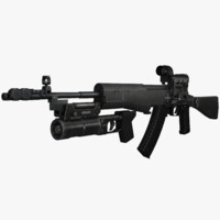 3ds max an-94 abakan assault rifle