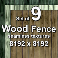 Wood Fence 9x Seamless Textures