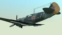 la-5 soviet fighter 5 3d model